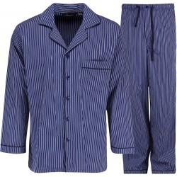 Ambassador Pyjama - Blau / Weiß