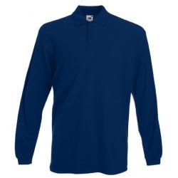 Marineblau Langarm-Polo
