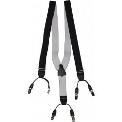 Schwarze Hosenträger 36 mm breit