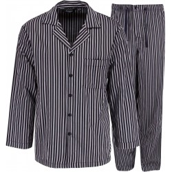 Ambassador Pyjama - grau gestreift