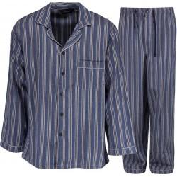 Ambassador FlanellSchlafanzug - Blau / Grau