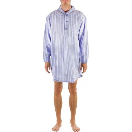 Blau gestreift Nachthemd